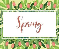 spring flowers background vector
