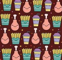 cute food pattern vector