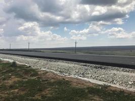 carretera asfaltada en rusia foto