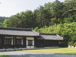 casa en un pueblo tradicional, corea del sur foto