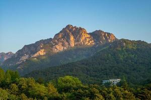 región turística del monte kumgang en corea del norte foto