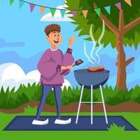 Backyard BBQ Time vector