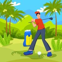Golf Player Exercise vector