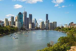 Skyline of Brisbane in Queensland, Australia photo