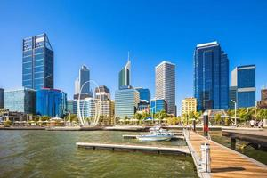 horizonte de perth en australia occidental foto