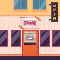 concepto de apertura de negocios vector