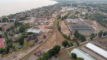 Aerial View of an Industrial Zone video