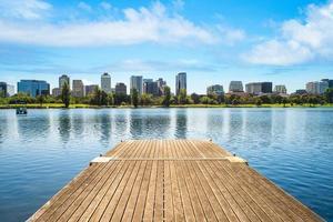 Scenery of Albert park in Melbourne, Australia photo