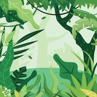 Flat Green Jungle Background vector