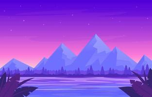 Gradient Calming Purple Tropical Background vector