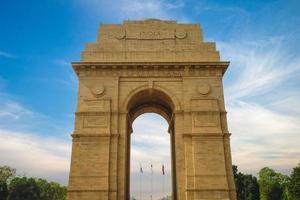 Puerta de la India también conocido como All India War Memorial en Nueva Delhi, India foto