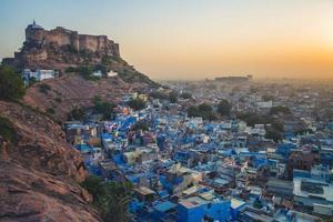Vista de Jodhpur en Rajasthan, India foto