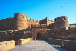 Lahore or Amar Singh Gate of Agra Fort in India photo