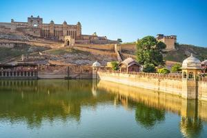 Scenery of Amber fort at Jaipur in India photo