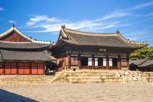Myeongjeongjeon, the main hall of Changgyeonggung Palace in Seoul, South Korea photo