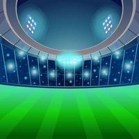 Estadio de fútbol de fútbol en el fondo de la noche vector