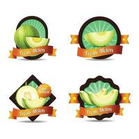 Fresh Melon Badge with Vintage Style Collection vector
