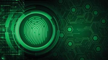 Finger print network cyber security background. vector