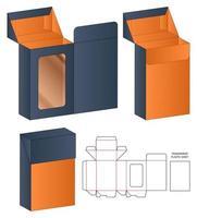 Box packaging die cut template design 3d mockup vector