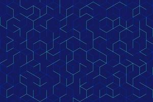 Abstract green cube pattern on dark blue background. Modern lines square mesh. Simple flat geometric design. You can use for cover, poster, banner web, flyer, Landing page, Print ad. vector