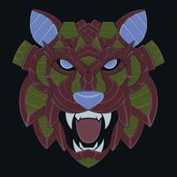 colorful tiger illustraion vector