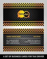 tarjeta de visita del taxista vector