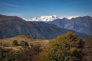 The Monte Rosa Massif mountain range, Northern Italy photo