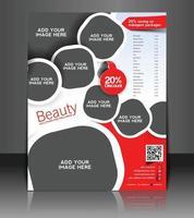 Beauty solution brochure design vector