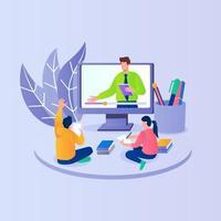 concepto de ilustración de educación en línea vector