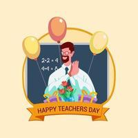 Teachers day vector illustration concept