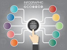 infographic chart with icon vector