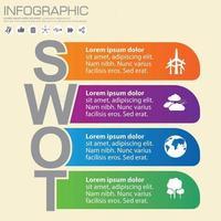 swot infograpgic element vector