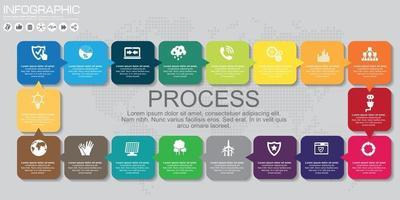 Vector next steps arrows for presentations. Process.