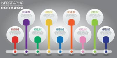 INFOGRAPHIC TIMELINE CONCEPT vector