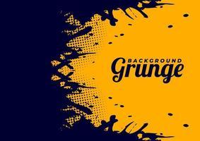 Beautiful Yellow Vector Grunge Background