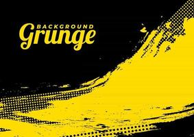 Beautiful Black And Yellow Vector Grunge Background