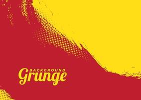 Beautiful Red And Yellow Vector Grunge Background