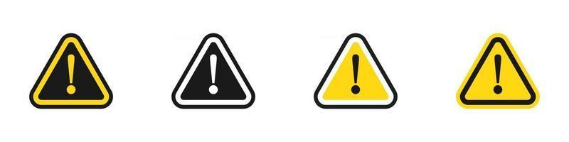 Exclamation Mark Warning icons set vector