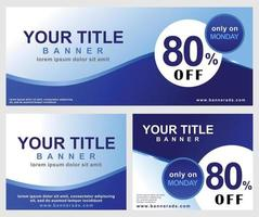 Banner or ads template with blue color vector