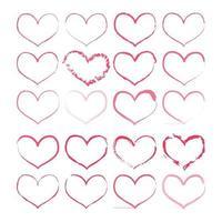 Heart vector icon set for graphic design