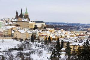 Prague City with gothic Castle, Czech Republic photo