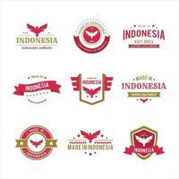 Garuda Made in Indonesia Badge Logo Set vector