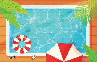 Swimming Pool Background Top View vector