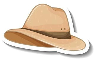 A sticker template with a fedora hat isolated vector