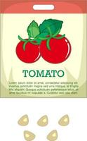 Tomato seeds with packaging vector