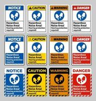Hazardous Noise Area, Hearing Protection Required vector