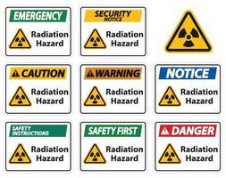 Radiation Hazard Symbol Sign Isolate On White Background,Vector Illustration vector