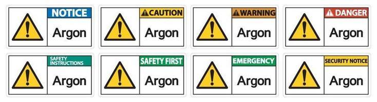 Argon Symbol Sign Isolate On White Background,Vector Illustration EPS.10 vector
