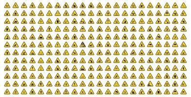 Warning Hazard Symbols labels Sign Isolate on White Background,Vector Illustration vector