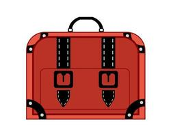 Old vintage luggage bag suitcase travel vector